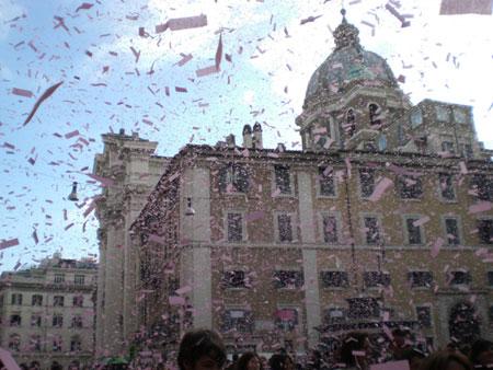 guerriglia marketing Gazzetta Sport
